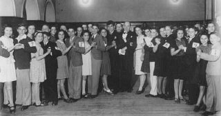 Lessons in dancing and etiquette were given in the...