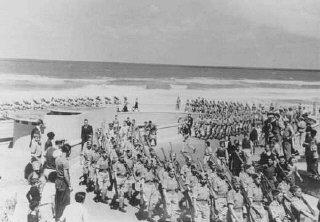 Members of the Jewish Brigade, an all-Jewish unit formed...