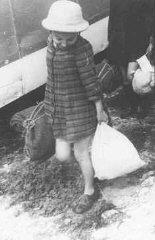 "A Jewish girl, one of the ""Tehran Children""..."
