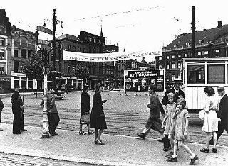 A billboard advertising an anti-Masonic exhibition...