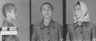 Identification pictures of a female inmate of the Auschwitz...