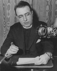 Father Charles Coughlin, leader of the antisemitic...