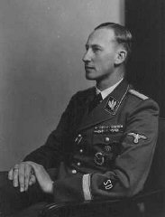 Reinhard Heydrich, chief of the SD (Security Service) and Nazi governor of Bohemia and Moravia.