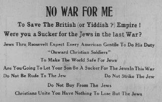 Antisemitic isolationist publication.