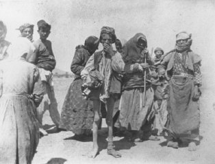 Armenian refugees near Kharput, Ottoman Empire, ca....