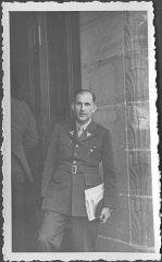 American prosecutor Robert Kempner, at the Nuremberg...