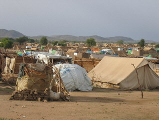 A camp for refugees in Chad. 2005.