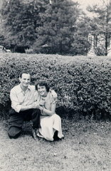 Aron and Lisa in Florence, Italy, 1945.