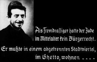 Illustrazione antisemita da una diapositiva nazista...