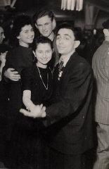 Regina (top, left) with friends at a dance in Berli...