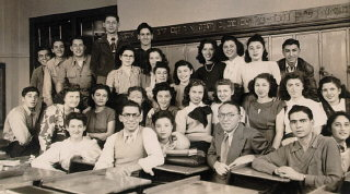Dr. Horowitz's Hebrew class at Jefferson High School...