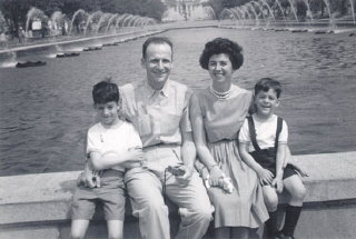 Regina and Victor with their two sons, Harry (left)...