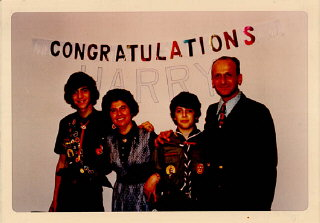 Celebration after one of Regina's sons, Harry, received...