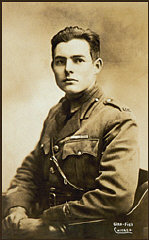 Ernest Hemingway in ambulance corps uniform, ca. 19...