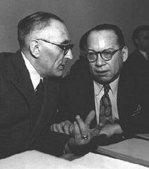 Professor Raphael Lemkin, left, and Ricardo Alfaro...