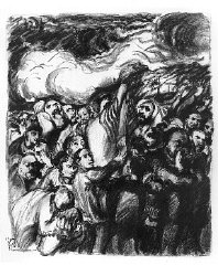 """Ludwig Meidner, from """"Massacres in Poland""""..."""