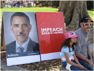 Protesters at a Tea Party rally.