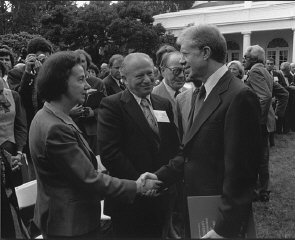 Vladka and Benjamin Meed (center) with President Jimmy...