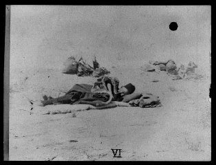 Armenian refugees in the desert.