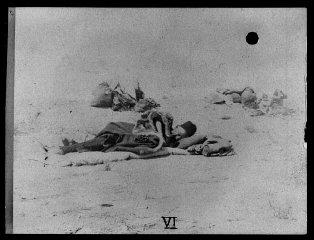 Armenian refugees in the desert.