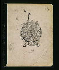 The cover of a diary written by Elizabeth Kaufmann...