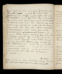 Page from a diary written by Elizabeth Kaufmann while...