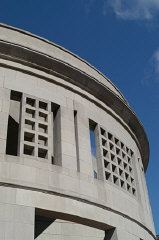 Detail of the 14th Street facade of the United States...