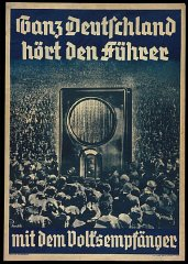 "1936 poster:  ""All of Germany Listens to the Führer..."