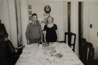 Abraham Kaplan and his wife Maria at their home in Paterson, New Jersey. He was the half brother of Blanka's grandmother. Blanka lived with Abraham and Maria when she came to the US. She loved them dearly.