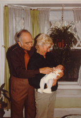 Norman and Amalie with their first grandchild, Dust...