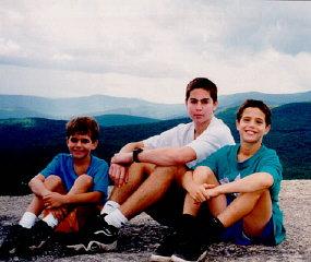 Norman's grandchildren, Michael, Dustin, and Aaron...