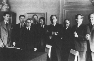 The Danish Freedom Council, Denmark's unofficial government-in-exile from July 1944 to May 1945, was made up of leaders of the four main resistance groups. London, Great Britain, between July 1944 and May 1945.