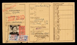 Identification card with Juif - Jood (Jew in French...