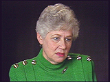하네 히르쉬 라이브만(Hanne Hirsch Liebman). 하네는 독일에서의 반 유태주의 정서와 괴롭힘에 대하여 증언하였다.