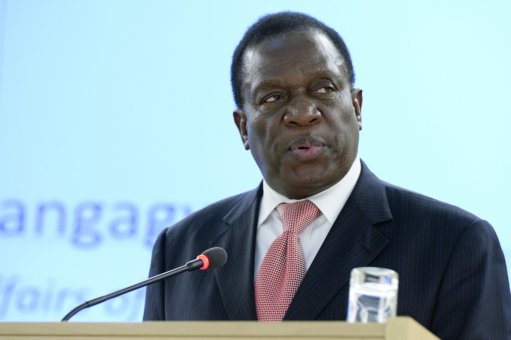 Emmerson Mnangagwa, former First Vice President of Zimbabwe, during High Level Segment of the 25th Session of the Human Rights Council. 5 March 2014.