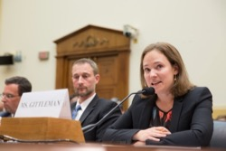 Andrea Gittleman, Program Manager, Simon-Skjodt Center for the Prevention of Genocide, testifies before a House Foreign Affairs subcommittee.