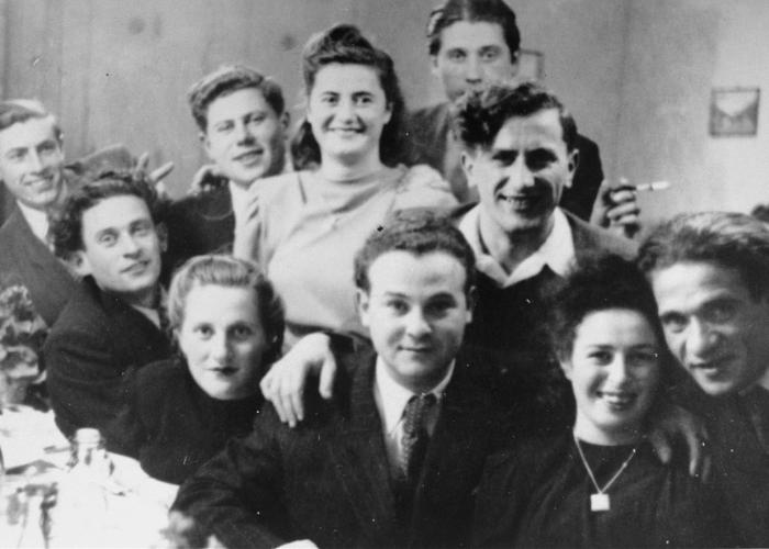 A social gathering at the Foehrenwald displaced persons camp.