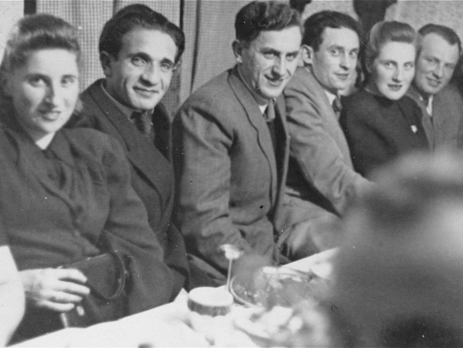Young Jewish DPs attend a party at the Foehrenwald displaced persons camp.