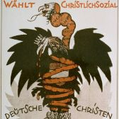Antisemitic Austrian election poster from 1920.