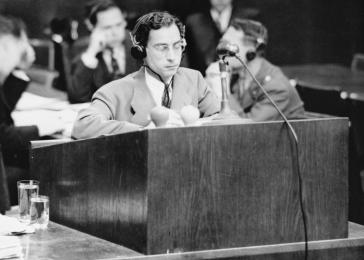 Chief Prosecutor James M. McHaney during the Doctors Trial, which was held in Nuremberg, Germany, from December 9, 1946, to August 20, 1947.