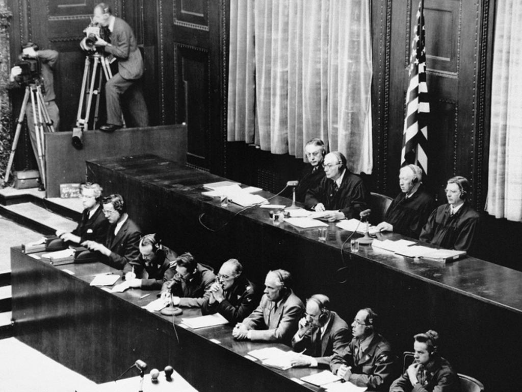 online exhibition united states holocaust memorial museum american judges top row seated during the doctors trial presiding judge walter