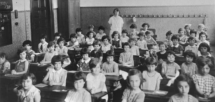 Jewish first grade class in Cologne, Germany