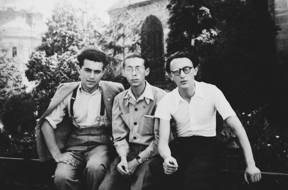 Pál (left) studied Jewish history and philosophy at a rabbinical seminary in Budapest before he was conscripted into forced labor. 1940–43.