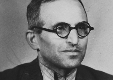 Lajos Ornstein shortly after his liberation from the Mauthausen concentration camp. Budapest, Hungary, 1945.