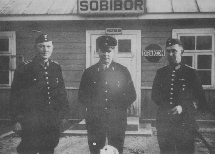 Rail personnel at Sobibor. <i>US Holocaust Memorial Museum</i>