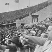 German citizens saluting Adolf Hitler at the opening of the 11th Olympiad in Berlin. USHMM #14495, courtesy of National Archives and Records Administration, College Park