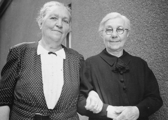 Pictured are Regina Kornhauser (left) and Malvina (Spitzer) Kornhauser (right), the grandmother and great aunt of Gyorgy Pick.