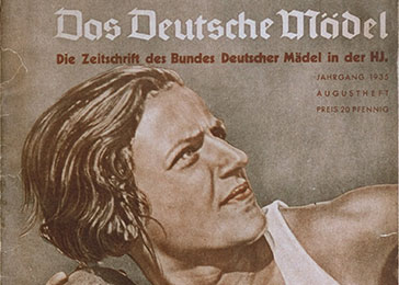 "The cover of a League of German Girls publication on girls and sports entitled ""The German Girl."""