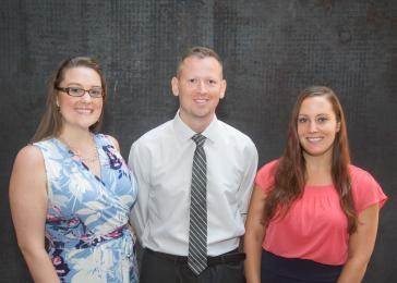 Summer Graduate Student Research Fellows (from left) Jocelyn Barrett, David Axelrod, and Lauren Fedewa.