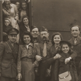 Jewish DPs prepare to depart Bremen, Germany, for the United States.